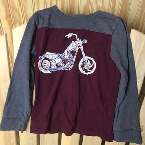 Boys long sleeve tee- lil biker dude 4T